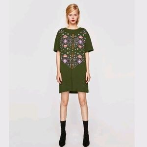 Zara Dress With Printed Front